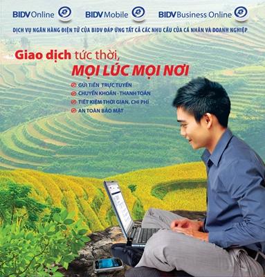 Gửi tiền online BIDV